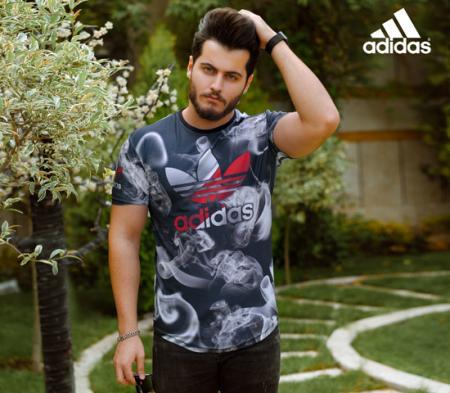 تیشرت مردانه Adidas مدل Smok
